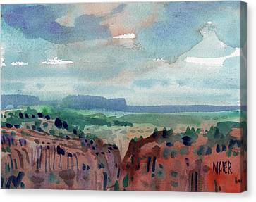 Canyon Overlook Canvas Print by Donald Maier