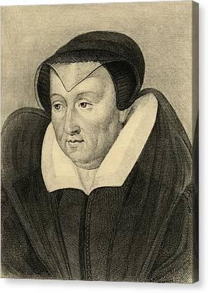 Catherine De Medici, 1519-1589. Born Canvas Print by Vintage Design Pics