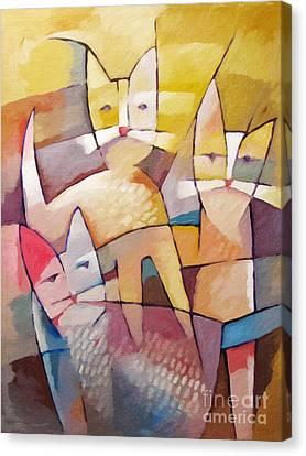 Catlife Canvas Print by Lutz Baar