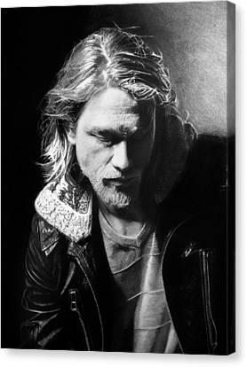 Charlie Hunnam Canvas Print by Stan Antonio