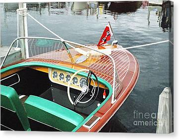 Chris Craft Continental Canvas Print by Neil Zimmerman