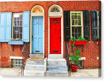 Colonial Doors Canvas Print by Andrew Dinh