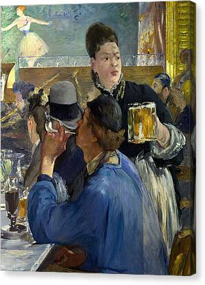 Corner Of A Cafe Concert Canvas Print by Edouard Manet