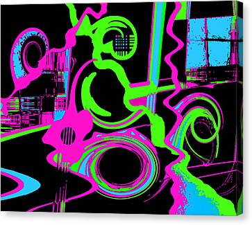 Cosmic Dj Canvas Print by Cristophers Dream Artistry