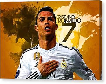 Cristiano Ronaldo Canvas Print by Semih Yurdabak