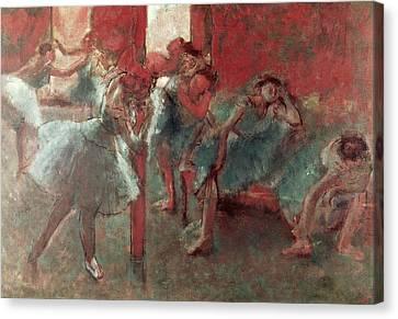 Dancers At Rehearsal Canvas Print by Edgar Degas