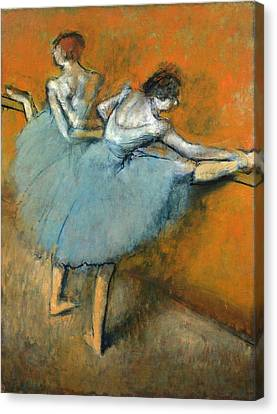 Dancers At The Barre Canvas Print by Edgar Degas