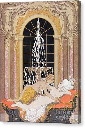 Dangerous Liaisons Canvas Print by Georges Barbier