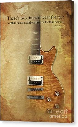 Darius Rucker Inspirational Quote, Electric Guitar Poster For Music Lovers And Musicians Canvas Print by Pablo Franchi