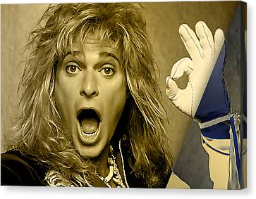 David Lee Roth Collection Canvas Print by Marvin Blaine