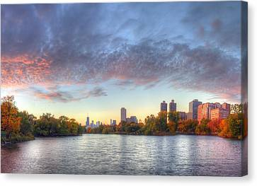 Downtown Chicago From Lincoln Park Canvas Print by Twenty Two North Photography