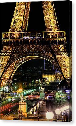 Eiffel At Night Canvas Print by Andrew Soundarajan
