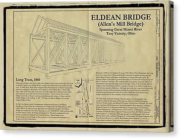 Eldean  Covered Bridge Canvas Print by Jack R Perry
