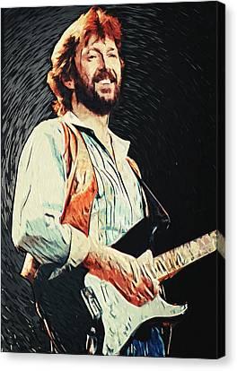 Eric Clapton Canvas Print by Taylan Soyturk