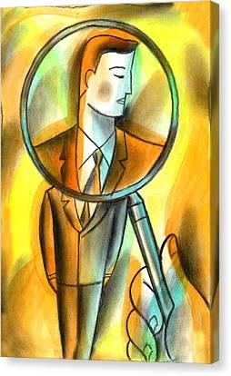 Evaluation Canvas Print by Leon Zernitsky