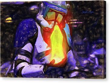 Execute Order 66 Blue Team Commander - Texturized Style Canvas Print by Leonardo Digenio
