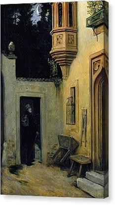 Farewell At Dawn Canvas Print by  Moritz von Schwind