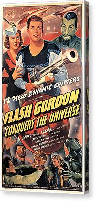 Flash Gordon Conquers The Universe Canvas Print by Everett