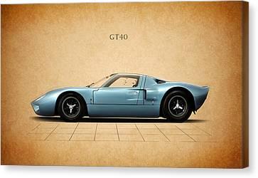 Ford Gt40 Canvas Print by Mark Rogan