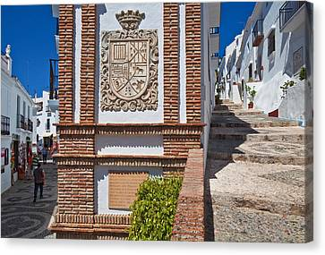 Frigiliana Street Scene, Costa Del Sol Canvas Print by Panoramic Images
