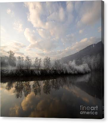 Frozen River Canvas Print by Angel  Tarantella