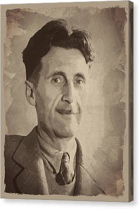 George Orwell 2 Canvas Print by Afterdarkness