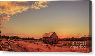 Glowing Sunset Canvas Print by Robert Bales