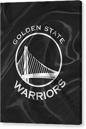 Golden State Warriors Canvas Print by Afterdarkness