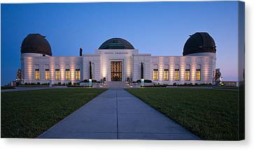 Griffith Observatory Canvas Print by Adam Romanowicz
