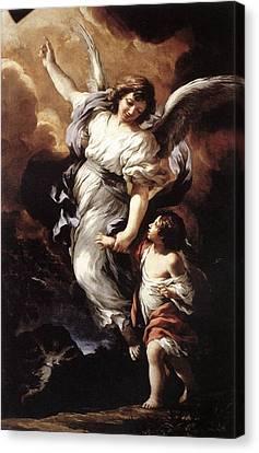 Guardian Angel Canvas Print by Pietro da Cortona