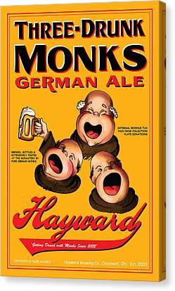 Hayward Three Drunk Monks Canvas Print by John OBrien
