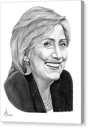 Hillary Clinton Canvas Print by Murphy Elliott