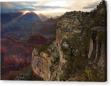 Hopi Point Sunrise Canvas Print by Mike Buchheit