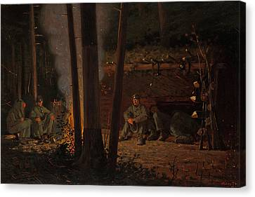 In Front Of Yorktown Canvas Print by Mountain Dreams