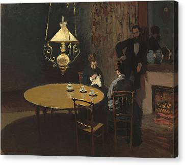 Interior, After Dinner Canvas Print by Claude Monet