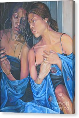 Introspect Canvas Print by Julie Orsini Shakher