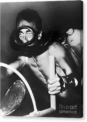 Jacques Cousteau (1910-1997) Canvas Print by Granger