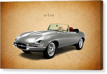 Jaguar E Type Canvas Print by Mark Rogan