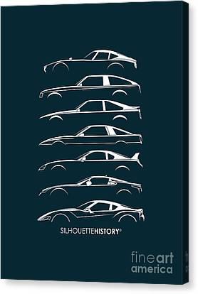 Japanese Sports Car Silhouettehistory Canvas Print by Gabor Vida