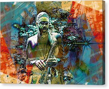 Kenny Garrett 5tet Jazz  Canvas Print by Jean Francois Gil