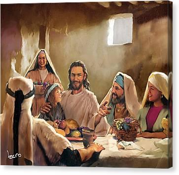 Jesus Canvas Print by Kero Magdy
