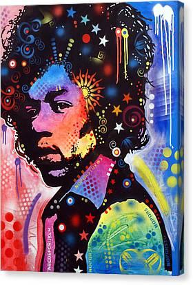 Jimi Hendrix Canvas Print by Dean Russo
