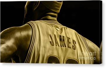Lebron James Collection Canvas Print by Marvin Blaine