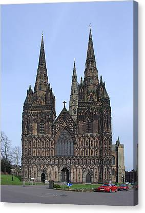 Lichfield Cathedral Canvas Print by Rod Johnson