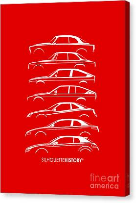 Lombard Coupe Silhouettehistory Canvas Print by Gabor Vida