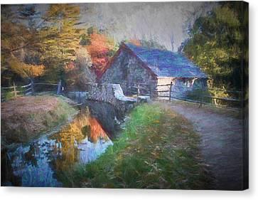 Longfellow's Wayside Inn Grist Mill Canvas Print by Jeff Folger