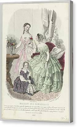 Magasin Des Demoiselles Canvas Print by Celestial Images