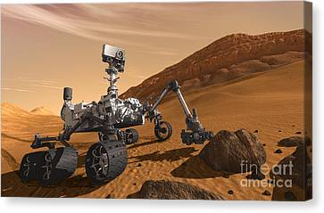 Mars Rover Curiosity, Artists Rendering Canvas Print by NASA/Science Source