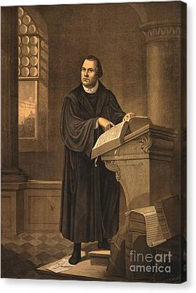 Martin Luther, German Theologian Canvas Print by Photo Researchers