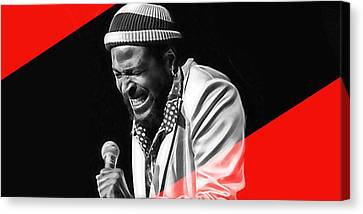 Marvin Gaye Collection Canvas Print by Marvin Blaine